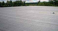 gray EPDM flat roof